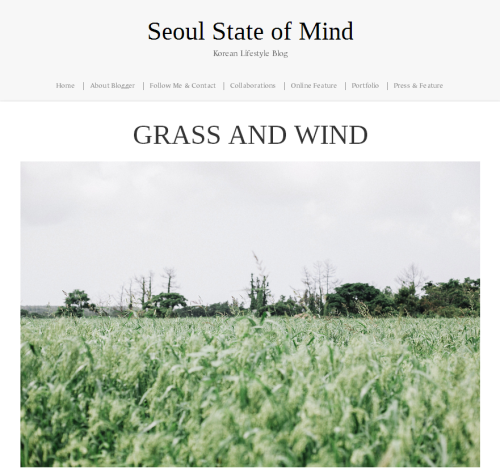 Grass and Wind Seoul State of Mind