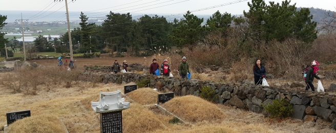 2016-01-Jeju-Olle-Trail-Clean Olle-Route11-Climbing Molseupobong