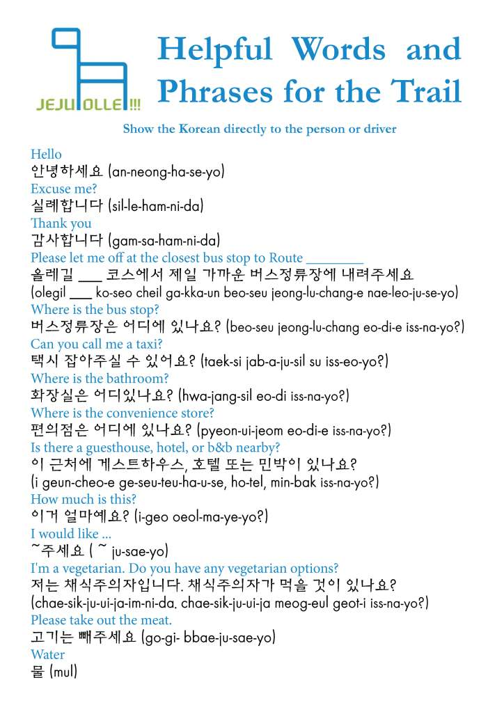 Jeju-Olle-Trail-Useful-Words-Phrases