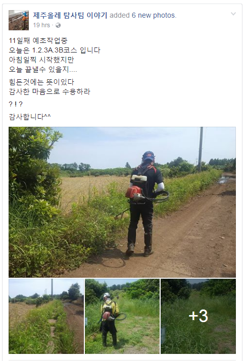 Jeju Olle Exploration Team Grass Cutting 2017-05-17